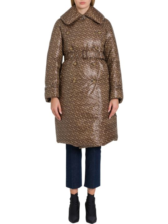 Burberry Monogram-print Down Trench Coat