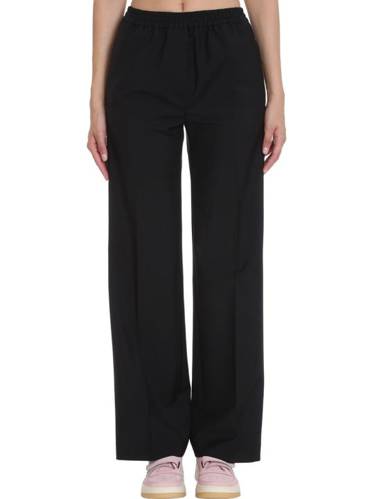 Acne Studios Pammy Pants In Black Wool