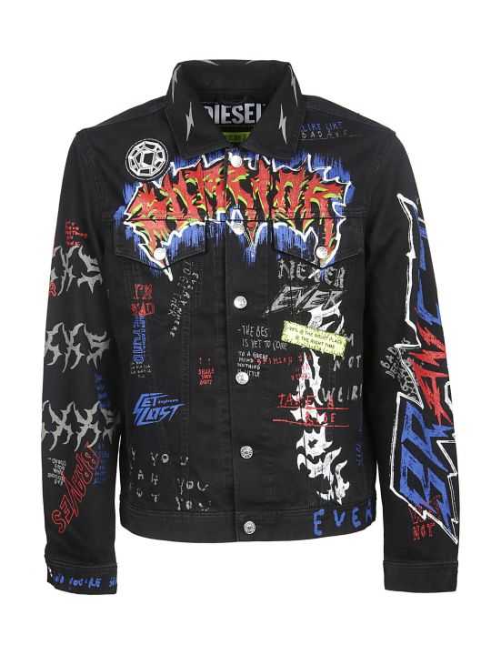 Diesel X Fedez Printed Denim Jacket