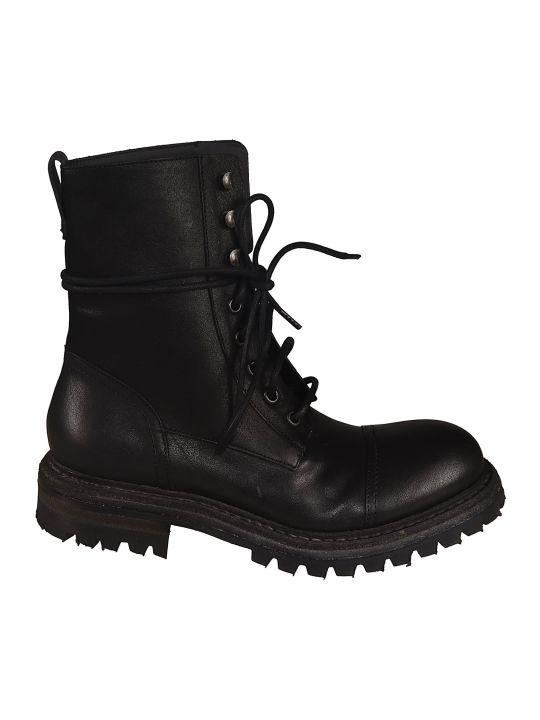 Roberto del Carlo Classic Combat Lace-up Boots
