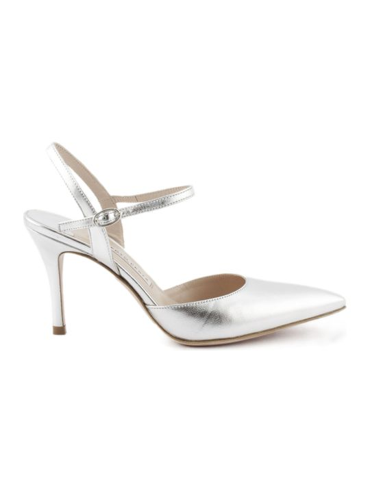 Roberto Festa Marte Pump In Silver Leather