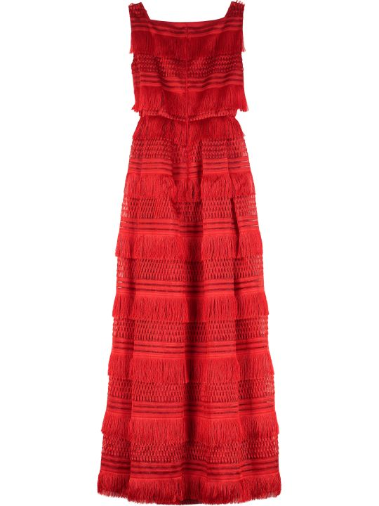 Alberta Ferretti Organza Maxi Dress