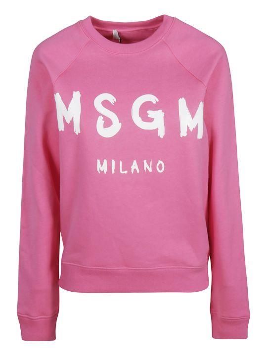 MSGM Classic Logo Print Sweatshirt