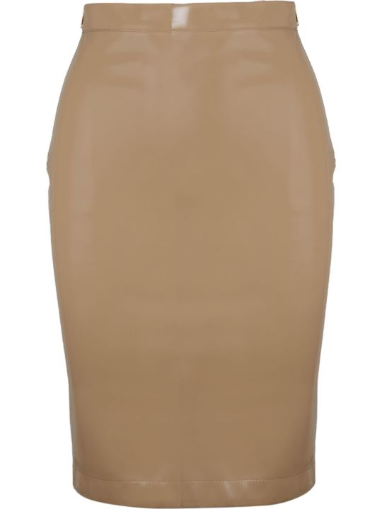 Burberry Vinyl Pencil Skirt