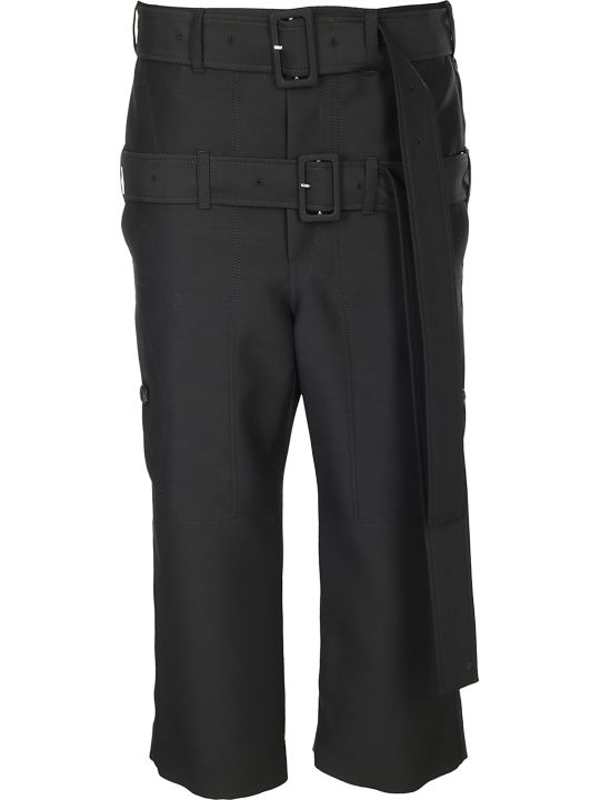 Lanvin Double Belt Cropped Trousers