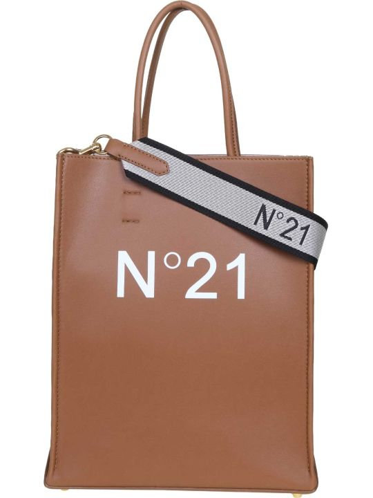 N.21 N ° 21 Leather Color Shopping Bag With Logo