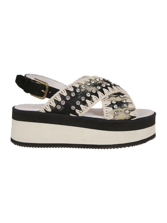 Mou Criss Cross Platform Sandals