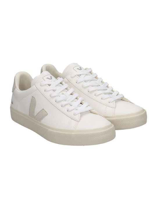 Veja Campo Easy Sneakers In White Leather