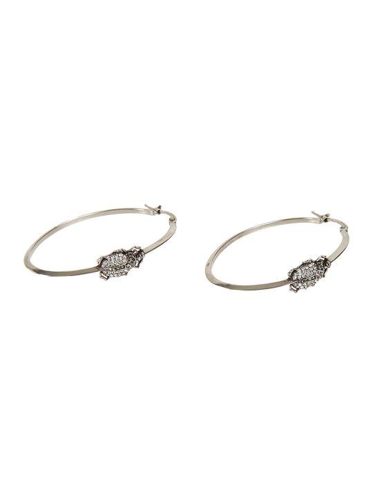 Alexander McQueen Beetle Creole Earrings
