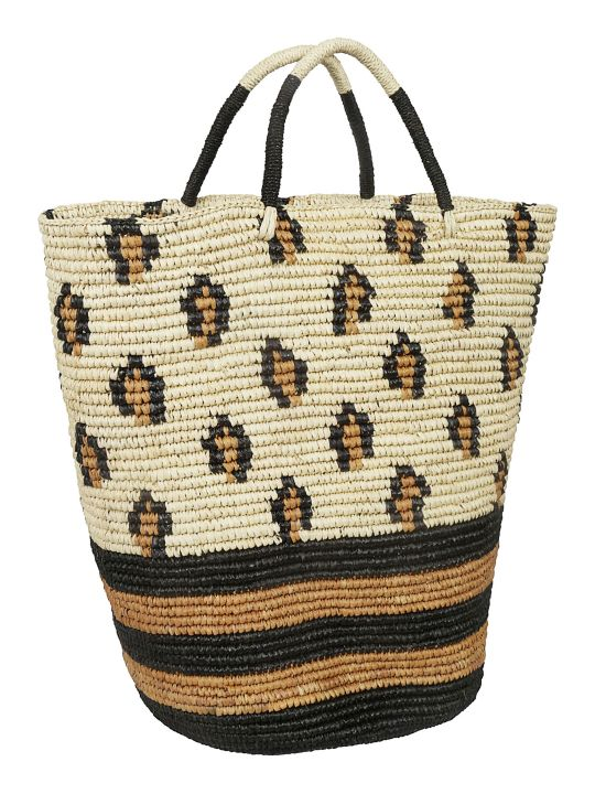 Sensi Studio Patterned Detail Weaved Tote