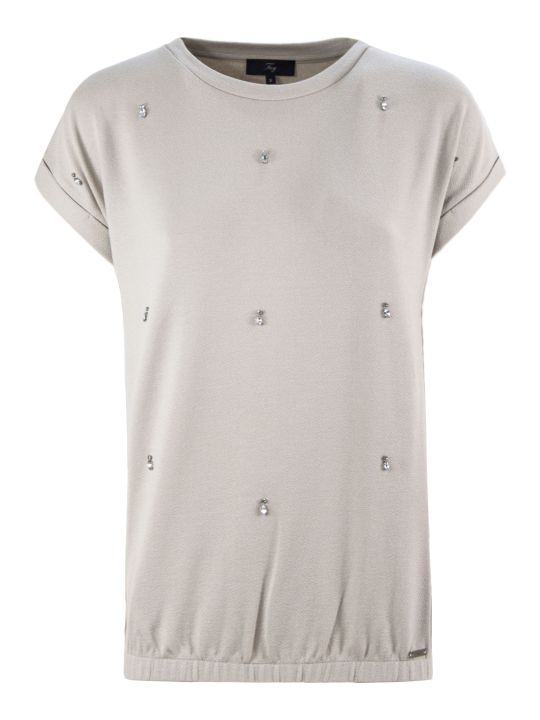Fay Beige Jewel T-shirt