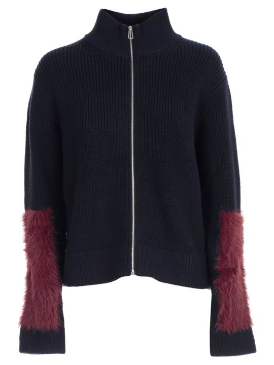 PS by Paul Smith Sweater L/s Turtle Neck W/fur Insert