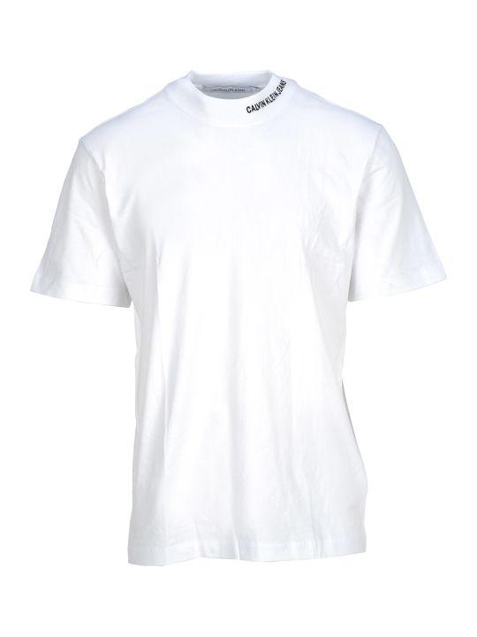 Calvin Klein Jeans Tshirt Rib Neck Logo