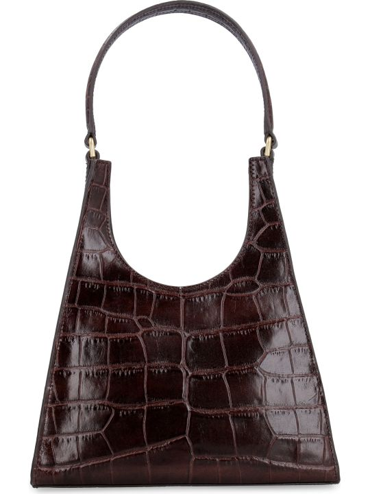 STAUD Rey Croco-print Leather Bag
