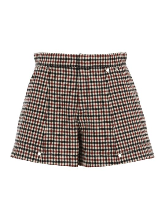 Chloé Chloe' Check Shorts