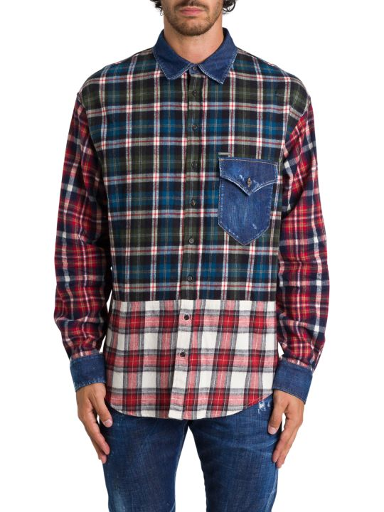 Dsquared2 Patchwork Shirt