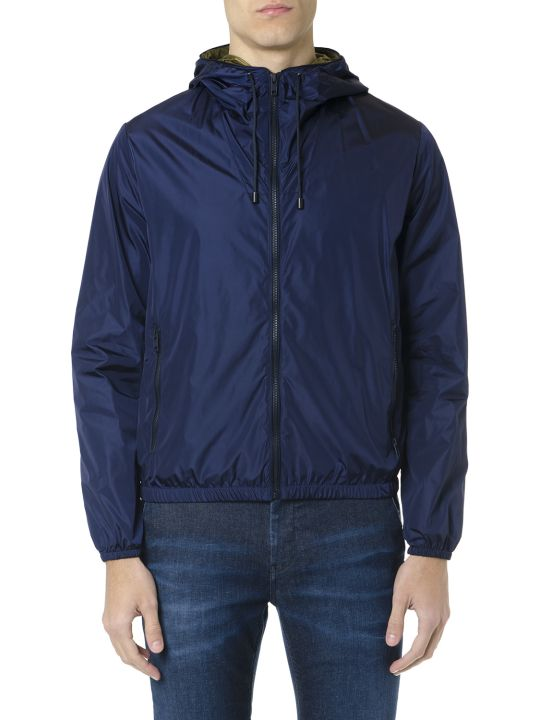 Fay F-way Blue Technical Fabric Jacket
