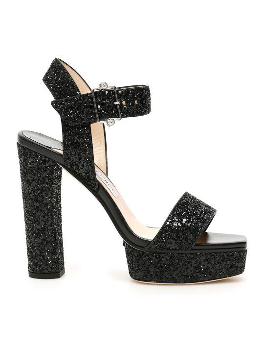 Jimmy Choo Glitter Maie 125 Sandals