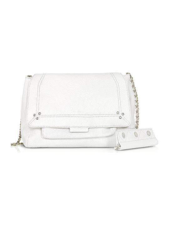Jerome Dreyfuss Lulu M White Leather Shoulder Bag