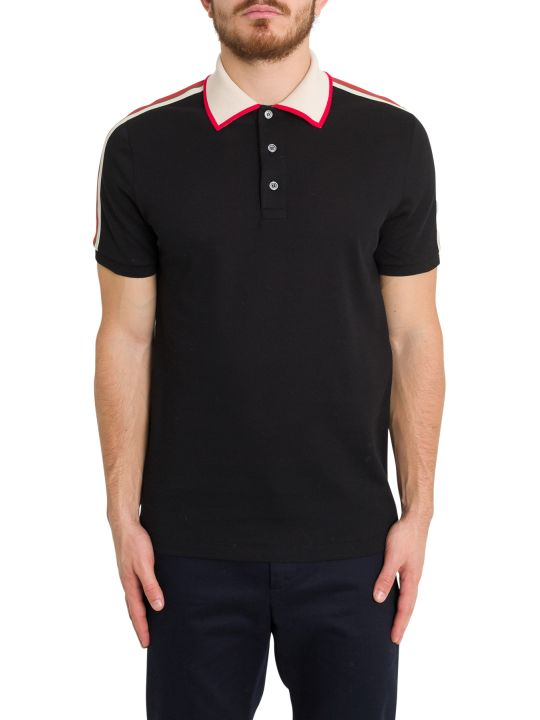 Gucci Cotton Polo With Gucci Stripe