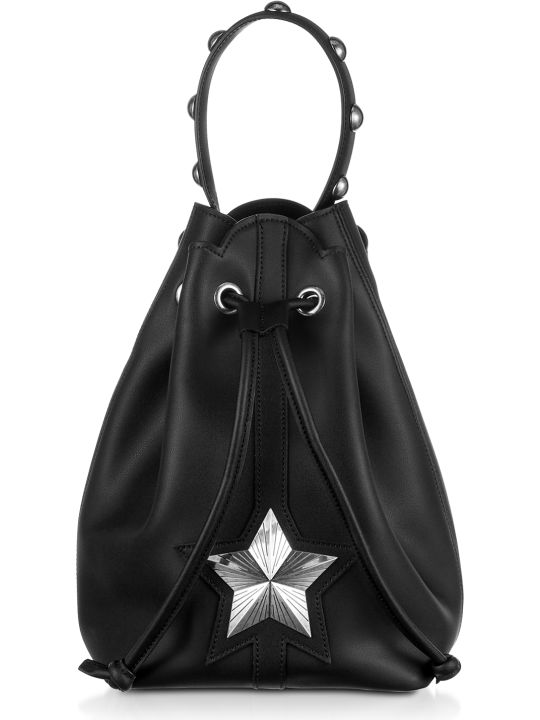 Les Jeunes Etoiles Black Leather Vega Bucket Bag
