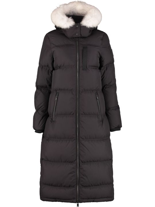 Moose Knuckles Fox Valley Long Hooded Down Jacket