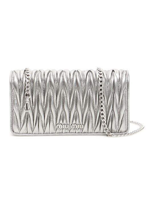 Miu Miu Matelassé Mini Bag With Chain