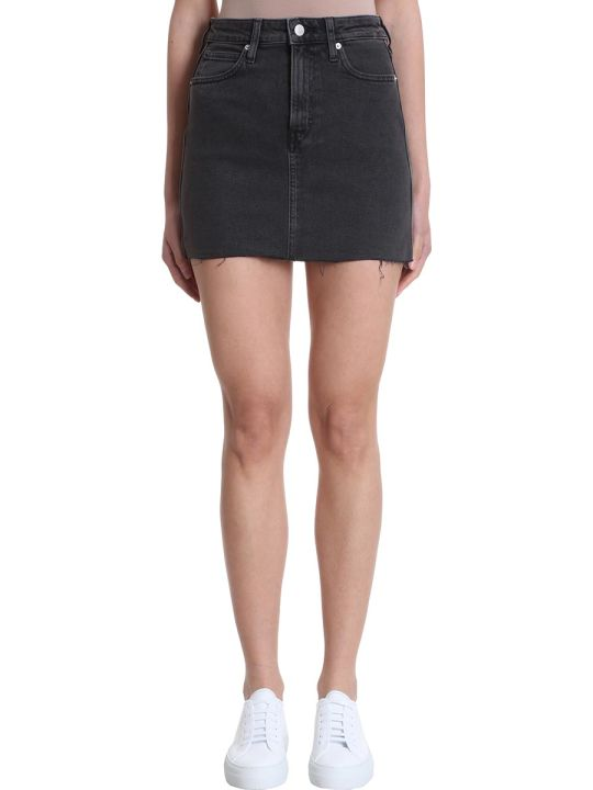 Calvin Klein Jeans Black Denim Mid Rise Skirt