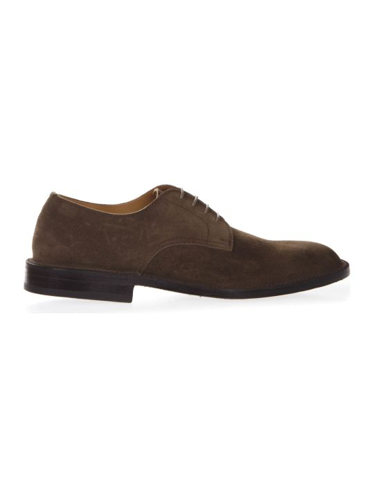 Green George Dark Brown Suede Leather Shoes