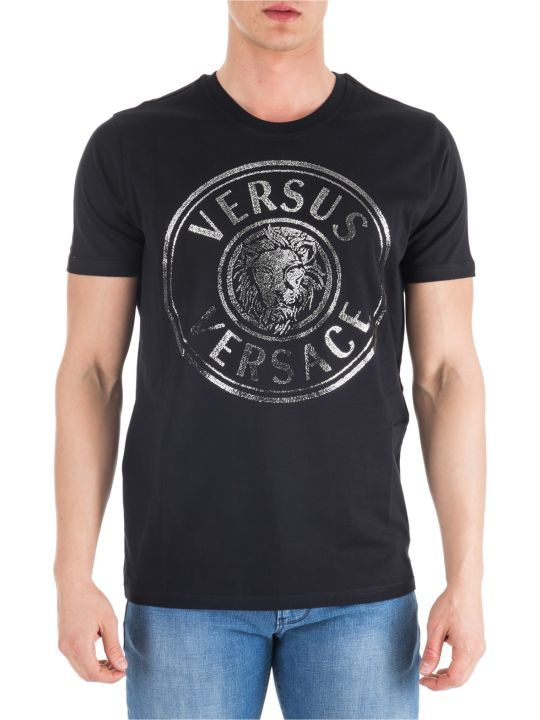 Versus Versace  Short Sleeve T-shirt Crew Neckline Jumper Regular Lion Head