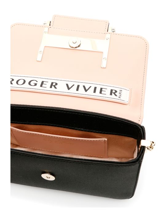 Roger Vivier Tres Vivier Strass Buckle Micro Bag