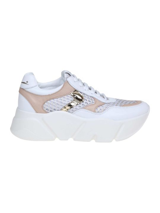 Voile Blanche Voile Banks Monster Sneakers In Leather And Fabric