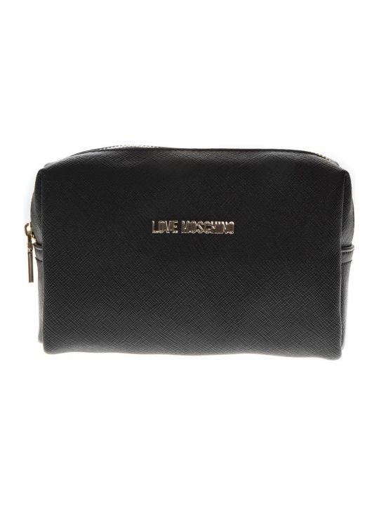 Love Moschino Black Faux Leather Zipped Purse