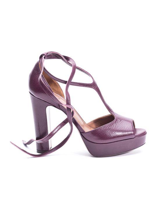 40d8d6984cb L'Autre Chose L'autre Chose Powder Pink Leather Sandal - Rosa (Pink ...