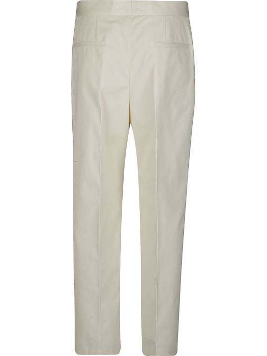Jil Sander Cream Cotton Trousers