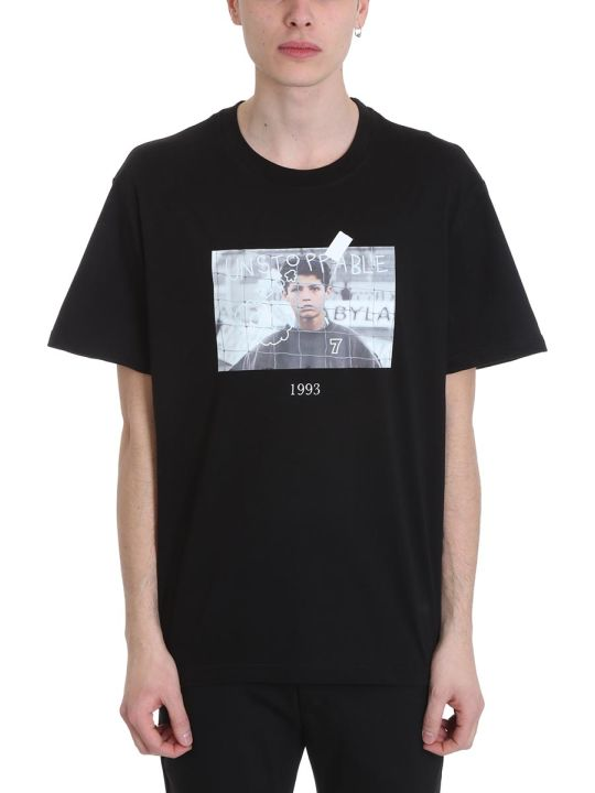 Throwback Cristiano Black Cotton T-shirt