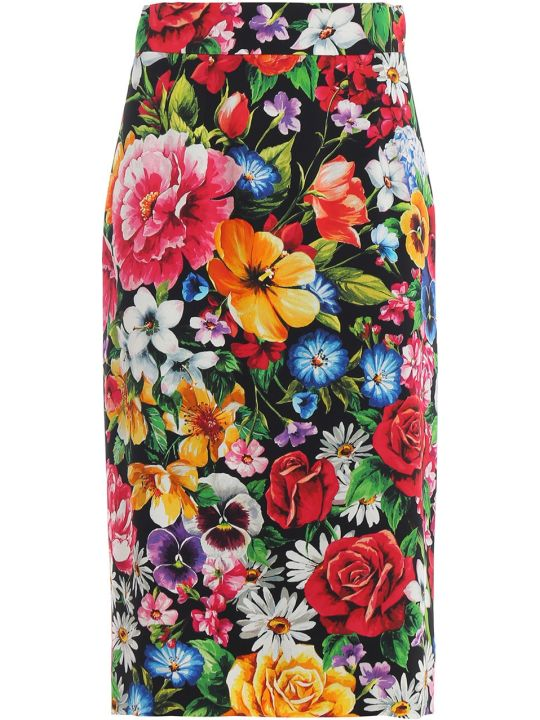 Dolce & Gabbana Dolce Gabbana Floral Pencil Skirt
