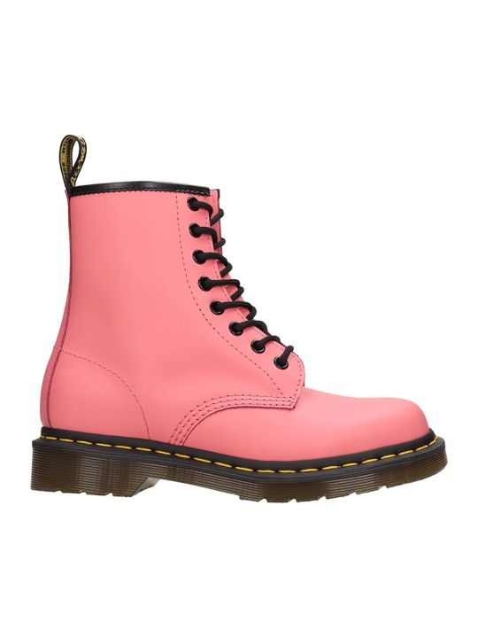 Dr. Martens 1460 Combat Boots In Rose-pink Leather