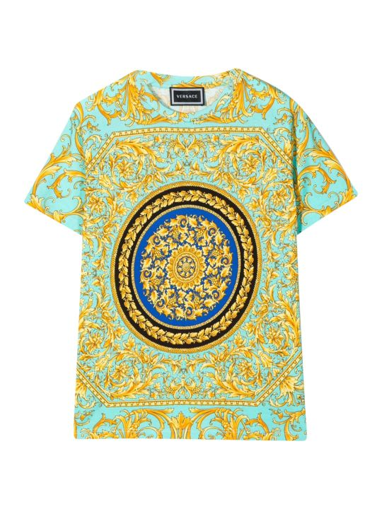 Young Versace Baroque Printed T-shirt