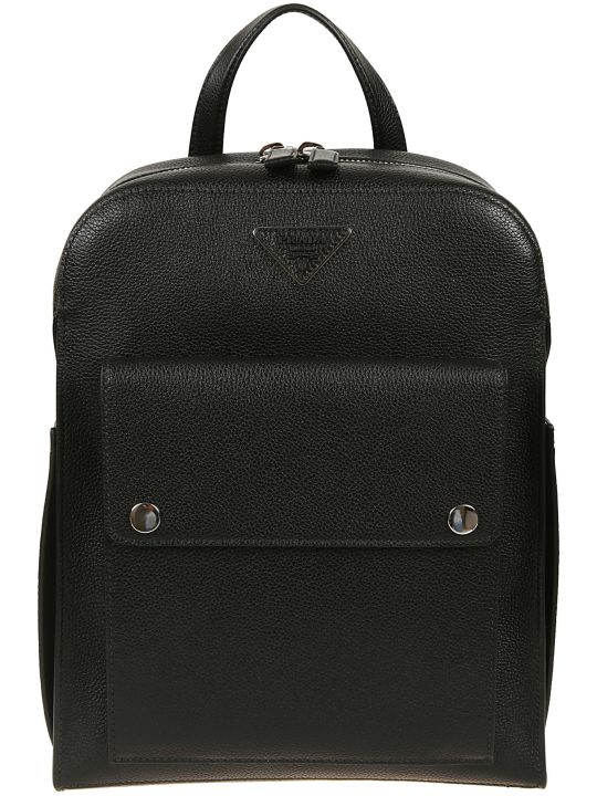Prada Logo Plaque Backpack