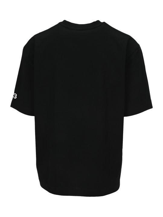 Y-3 Adidas Y3 Signature-print Cotton T-shirt