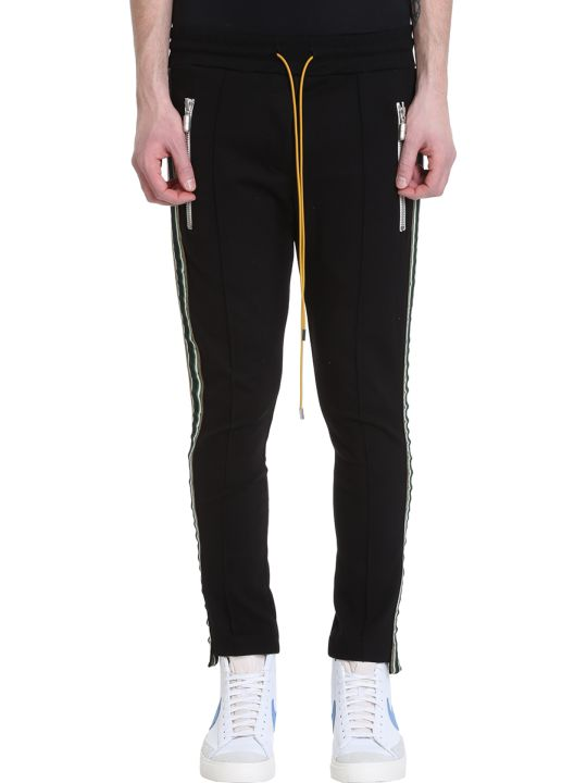 Rhude Traxed Black Fabrical Technics Pants