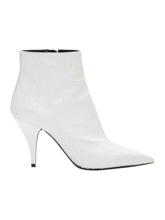 Casadei Delfina Heel Sequined Ankle Boots