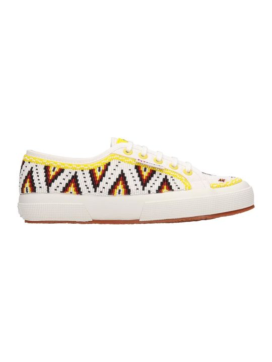 Alanui White Canvas Sneakers