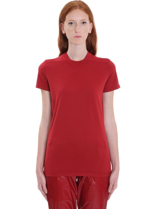 DRKSHDW Crew Level Shor T-shirt In Red Cotton