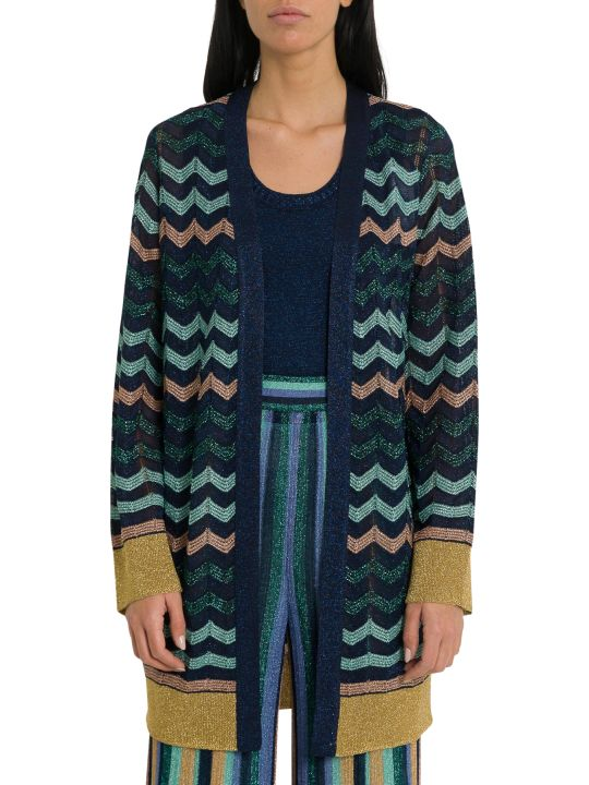 M Missoni Lurex Knit Longline Cardigan