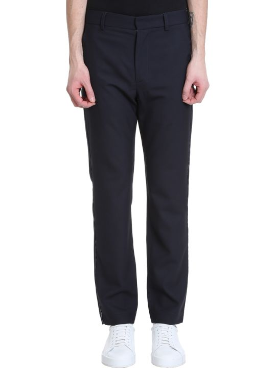 Maison Flaneur Blue Wool Pants
