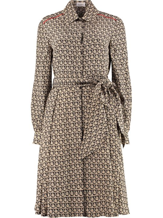 Salvatore Ferragamo Silk Shirt Dress