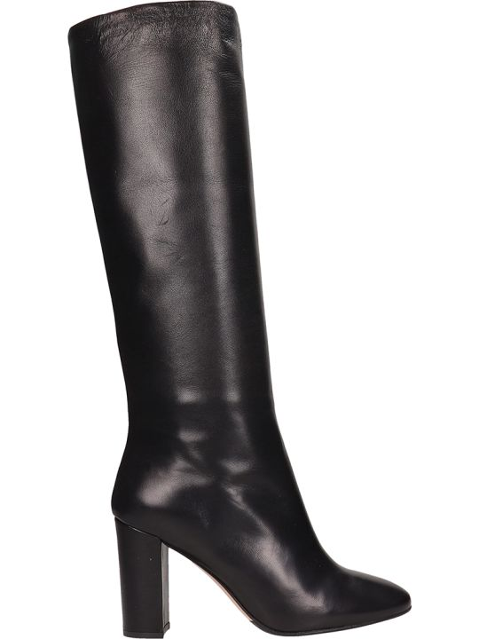 The Seller Black Leather High Boots