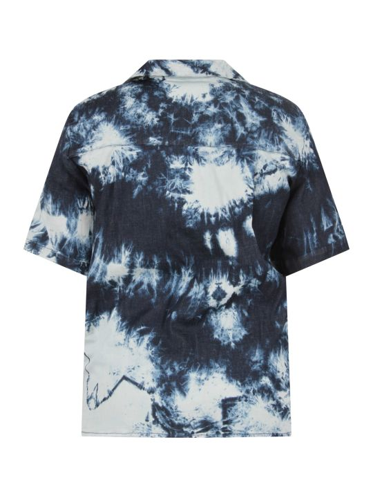 Cinzia Araia Blue And White Boy Shirt With Logo